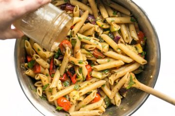 Add-More-Vinaigrette-to-Grilled-Vegetable-Pasta-Salad